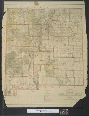 Primary view of object titled 'State of New Mexico : compiled from the official records of the General Land Office and other sources.'.