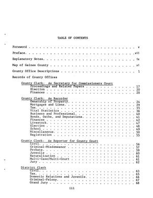 Inventory of county records, Gaines County courthouse
