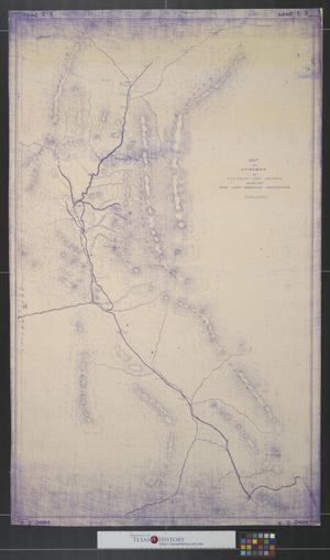 Primary view of object titled 'Map of surveys in western New Mexico made for the New Mexican railroad.'.