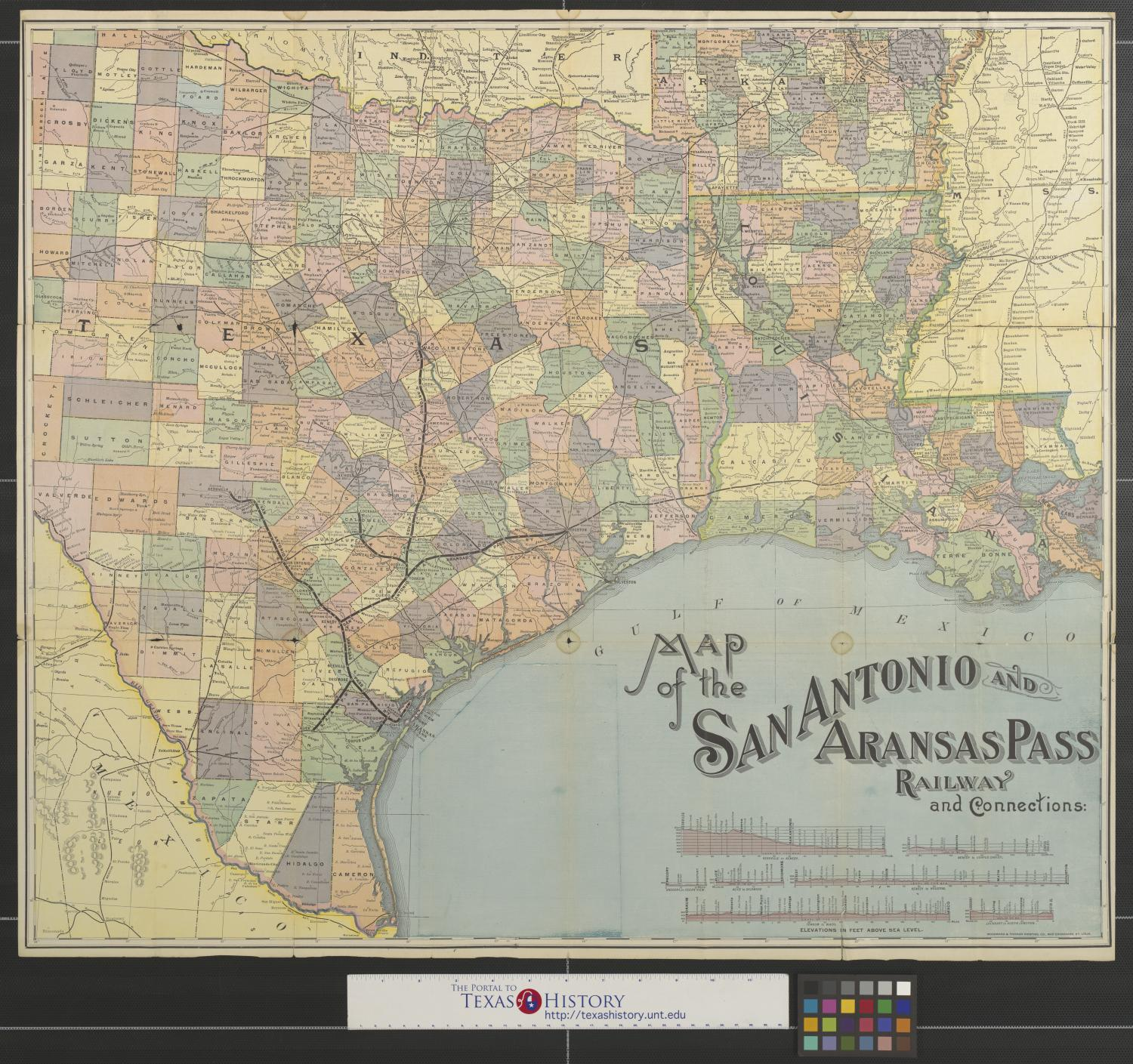map of the san antonio and aransas pass railway and connections the portal to texas history map of the san antonio and aransas pass
