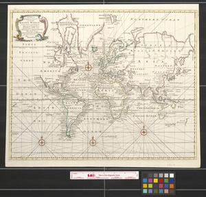 Primary view of A new & correct chart of the known world, laid down according to Mercator's projection exhibiting all the late discoveries & improvements : the whole being collected from the most authentic journals, charts & c.