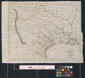 Primary view of object titled 'Map of the state of Coahuila and Texas.'.