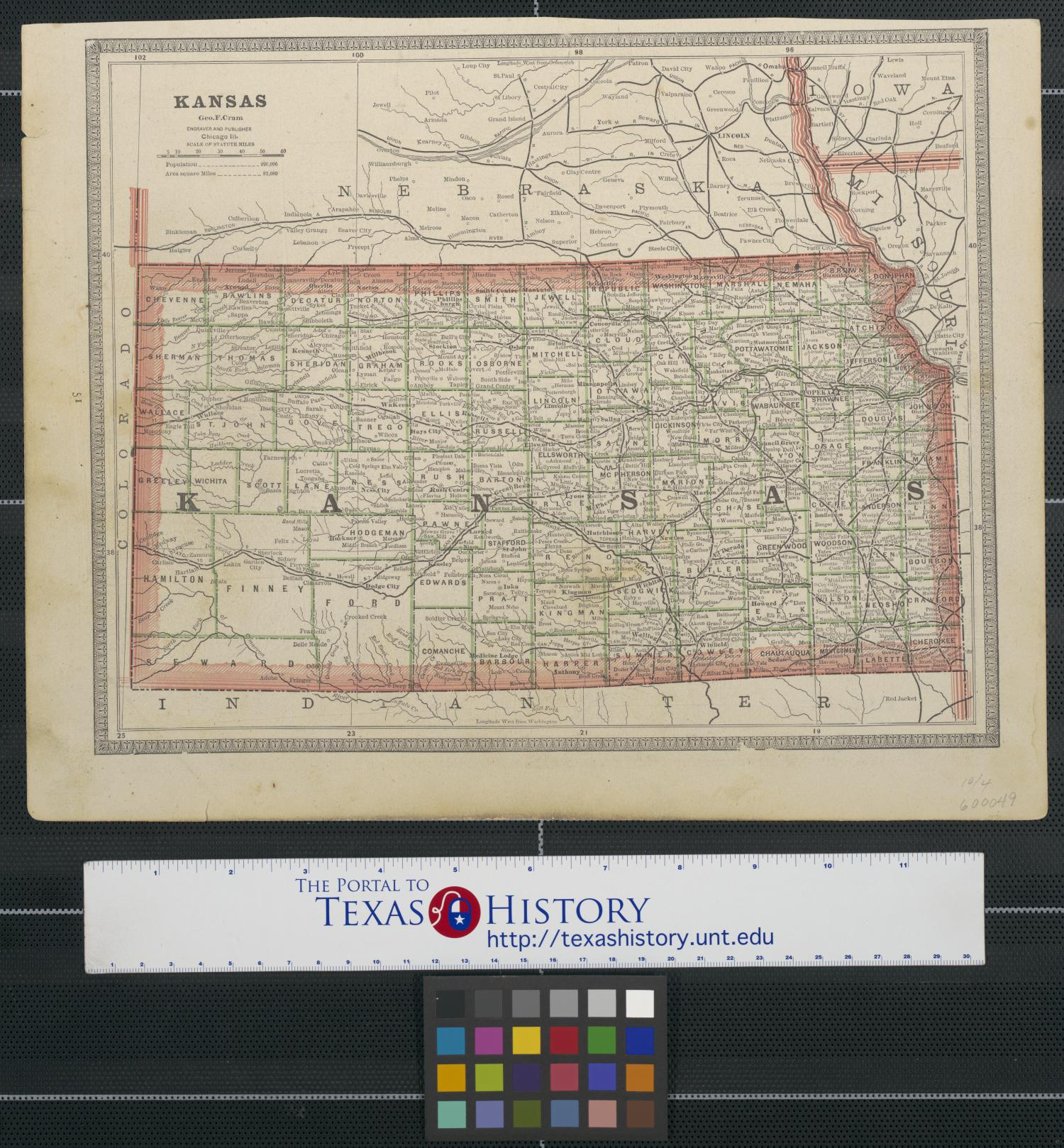 [Maps of Kansas and Nebraska]                                                                                                      [Sequence #]: 1 of 2