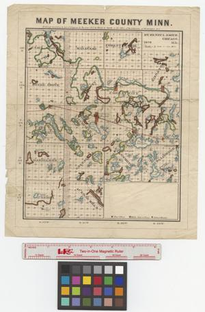 Primary view of object titled 'Map of Meeker County Minn.'.