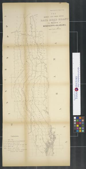 Primary view of object titled 'The Mobile and Ohio River Rail Road Grant : in the State of Mississippi and Alabama.'.