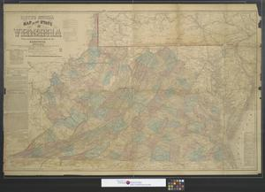 Primary view of object titled 'Lloyd's official map of the state of Virginia from actual surveys by order of the executive, 1828 & 1859.'.