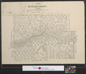 Primary view of object titled 'Map of Menard County, Texas.'.
