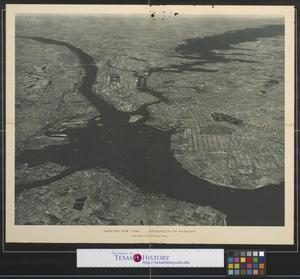 Primary view of object titled 'Greater New York...Metropolis of mankind: copyright supplement to the National Geographic Magazine.'.