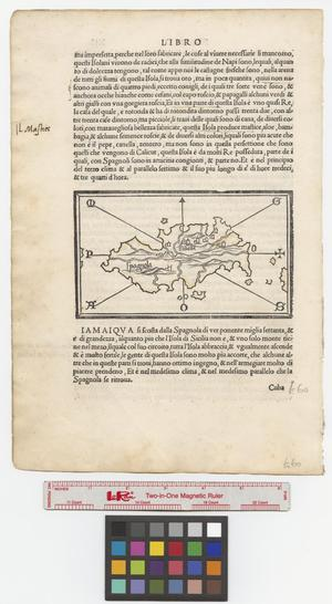 Primary view of object titled '[Map of Isola Spagnola]'.