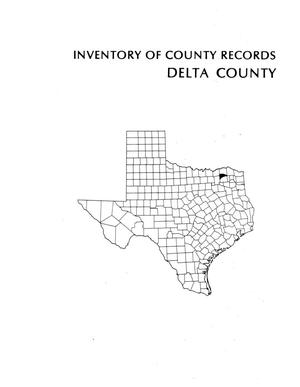 Primary view of object titled 'Inventory of county records, Delta County courthouse, Cooper, Texas'.