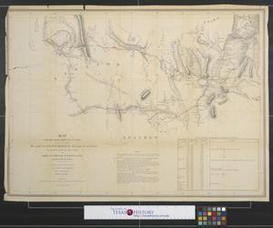 Primary view of object titled 'Map of the route pursued in 1849 by the U.S. troops under the command of Bvt. Lieut. Col. Jno. M. Washington, Governor of New Mexico, in an expedition against the Navajos Indians.'.