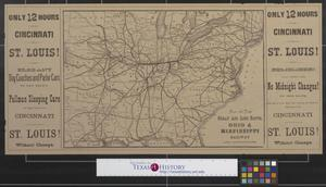 Primary view of object titled 'Map of the great Air Line route : Ohio & Mississippi Railway and connections.'.