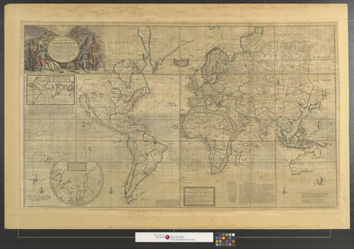 A new & correct map of the whole world : shewing ye situation of its ...