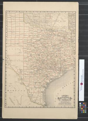 Primary view of object titled 'Cram's railroad and county map of Texas.'.