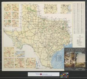 Primary view of object titled 'Texas highway map.'.