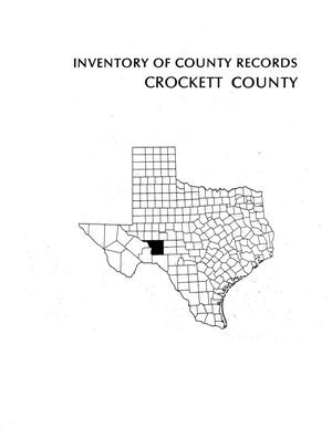 Primary view of object titled 'Inventory of county records, Crockett County courthouse, Ozona, Texas'.