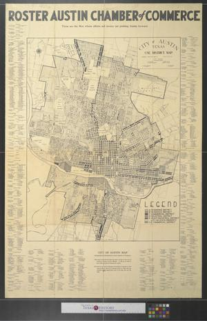 Primary view of object titled 'City of Austin, Texas : Use District Map.'.