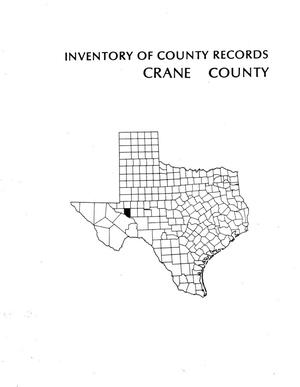 Primary view of object titled 'Inventory of county records, Crane County courthouse, Crane, Texas'.