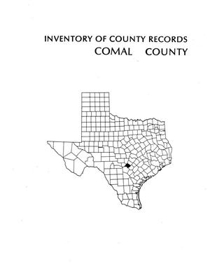 Primary view of object titled 'Inventory of county records, Comal County courthouse, New Braunfels, Texas'.