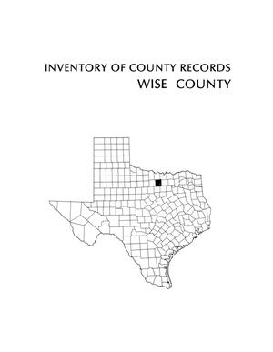 Primary view of object titled 'Inventory of county records, Wise County Courthouse, Decatur, Texas'.