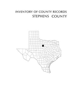 Primary view of object titled 'Inventory of county records, Stephens County Courthouse, Breckenridge, Texas'.