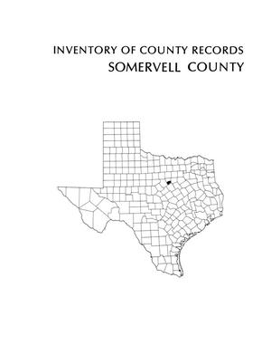Primary view of object titled 'Inventory of county records, Somervell County Courthouse, Glen Rose, Texas'.