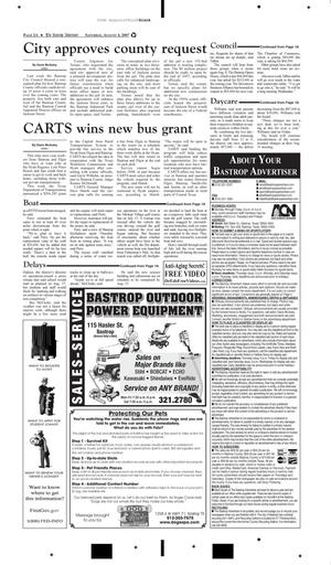 Primary view of object titled 'The Bastrop Advertiser (Bastrop, Tex.), Vol. [154], No. [46], Ed. 1 Saturday, August 4, 2007'.