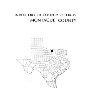 Primary view of object titled 'Inventory of county records, Montague County Courthouse, Montague, Texas'.