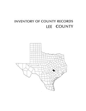 Primary view of object titled 'Inventory of county records, Lee County Courthouse, Giddings, Texas'.