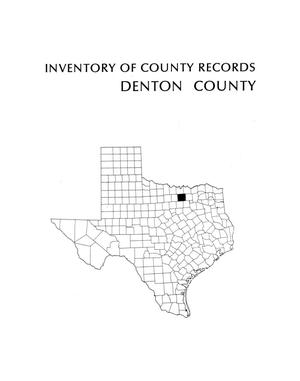 Primary view of object titled 'Inventory of county records, Denton County Courthouse, Denton, Texas'.