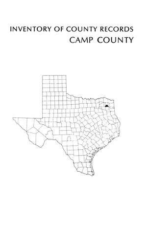 Primary view of object titled 'Inventory of county records, Camp County Courthouse, Pittsburg, Texas'.