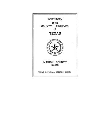 Primary view of object titled 'Inventory of the county archives of Texas : Marion County, no. 158'.