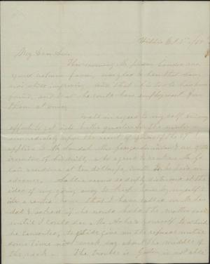 Letter to Cromwell Anson Jones, 7 October 1875