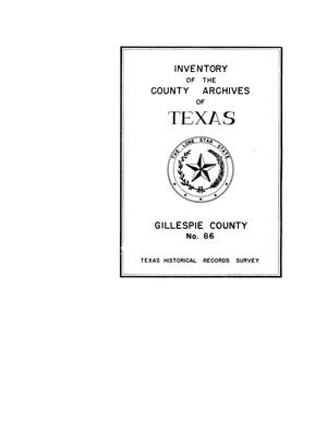 Primary view of object titled 'Inventory of the county archives of Texas : Gillespie County, no. 86'.