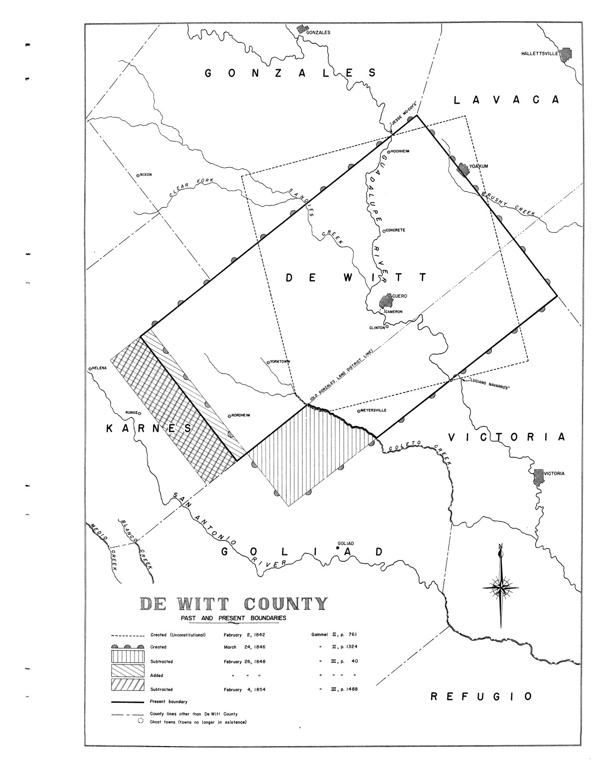 Inventory of the county archives of Texas : De Witt County, no. 62                                                                                                      Plate No. 1