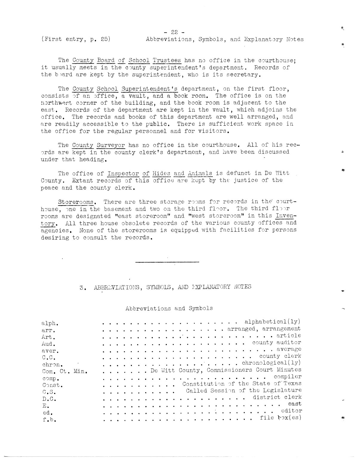 Inventory of the county archives of Texas : De Witt County, no. 62                                                                                                      22