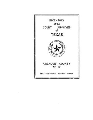 Primary view of object titled 'Inventory of the county archives of Texas : Calhoun County, no. 29'.