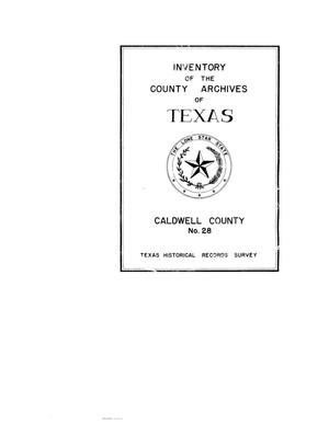 Primary view of object titled 'Inventory of the county archives of Texas : Caldwell County, no. 28'.