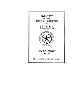 Primary view of object titled 'Inventory of the county archives of Texas : Uvalde County, no. 232'.