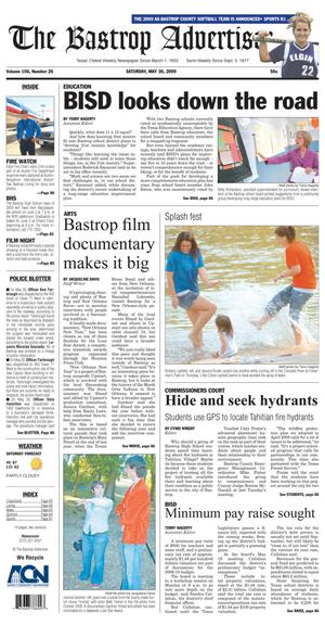 Primary view of object titled 'The Bastrop Advertiser (Bastrop, Tex.), Vol. 156, No. 26, Ed. 1 Saturday, May 30, 2009'.