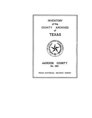 Primary view of object titled 'Inventory of the county archives of Texas : Jackson County, no. 120'.