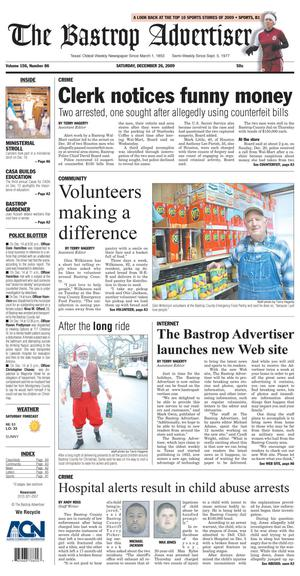 The Bastrop Advertiser (Bastrop, Tex.), Vol. 156, No. 86, Ed. 1 Saturday, December 26, 2009