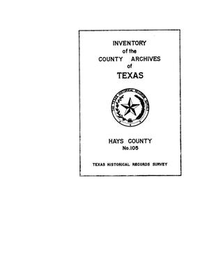 Inventory of the county archives of Texas : Hays County, no. 105
