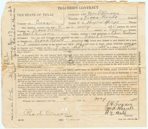 Teacher's Contract for Pearl Vinson
