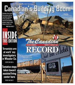 Primary view of object titled 'The Canadian Record (Canadian, Tex.), Vol. 118, No. 08, Ed. 1 Thursday, February 21, 2008'.