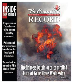 The Canadian Record (Canadian, Tex.), Vol. 118, No. 12, Ed. 1 Thursday, March 20, 2008