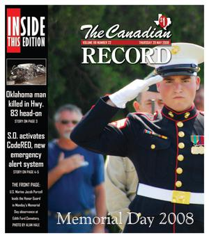 Primary view of object titled 'The Canadian Record (Canadian, Tex.), Vol. 118, No. 22, Ed. 1 Thursday, May 29, 2008'.