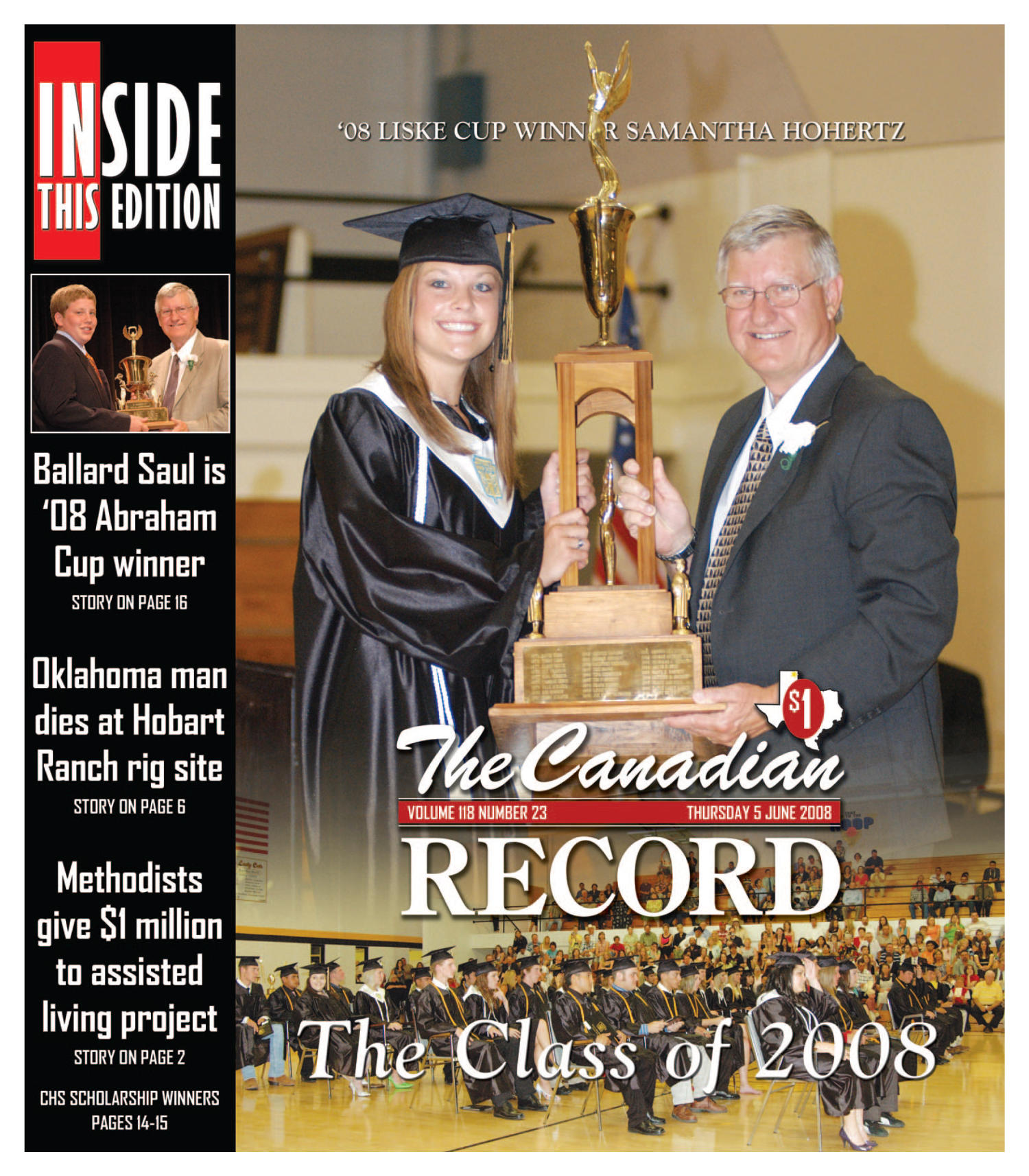 The Canadian Record (Canadian, Tex.), Vol. 118, No. 23, Ed. 1 Thursday, June 5, 2008                                                                                                      [Sequence #]: 1 of 36
