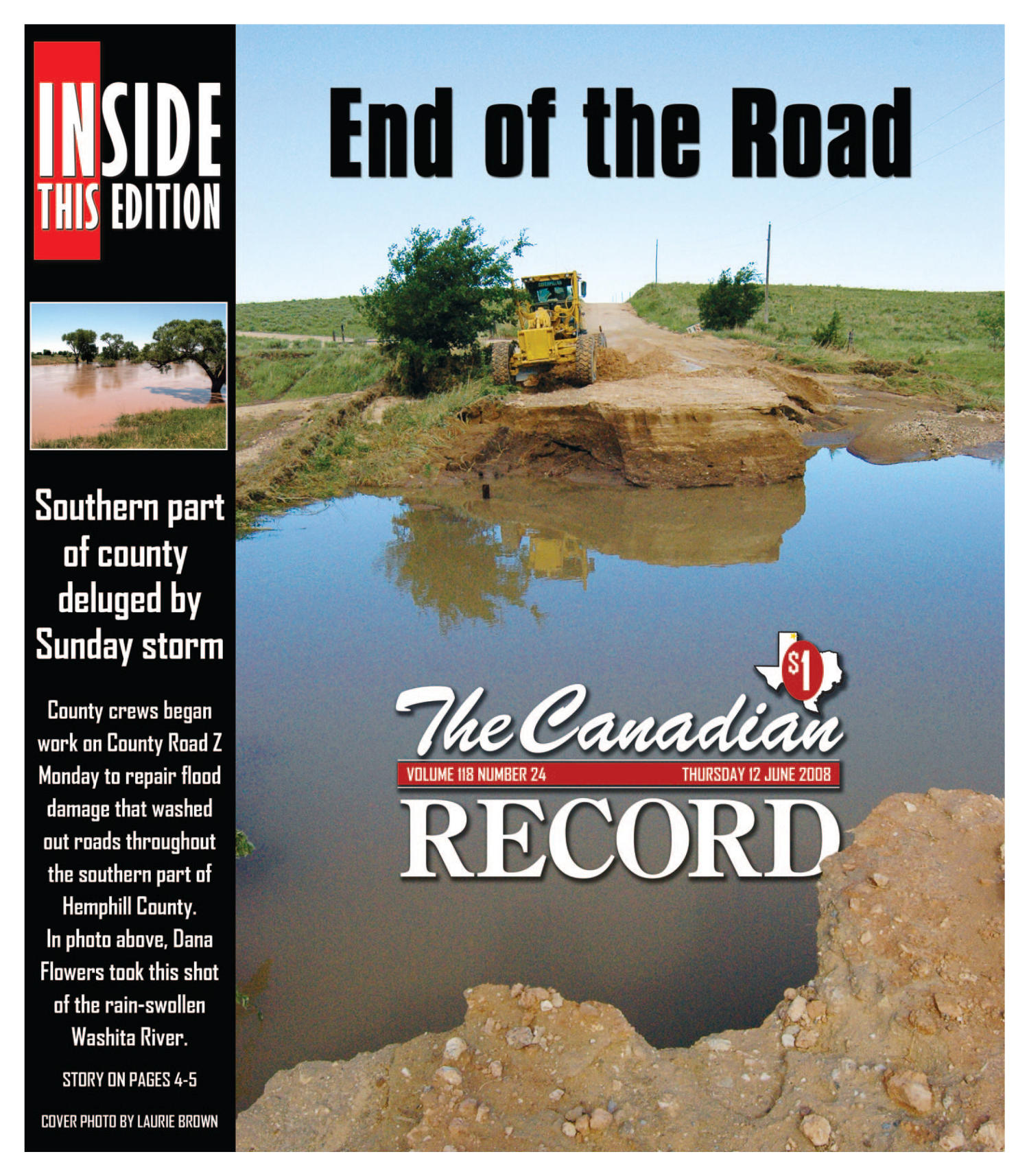 The Canadian Record (Canadian, Tex.), Vol. 118, No. 24, Ed. 1 Thursday, June 12, 2008                                                                                                      [Sequence #]: 1 of 32