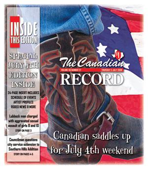 Primary view of object titled 'The Canadian Record (Canadian, Tex.), Vol. 118, No. 27, Ed. 1 Thursday, July 3, 2008'.